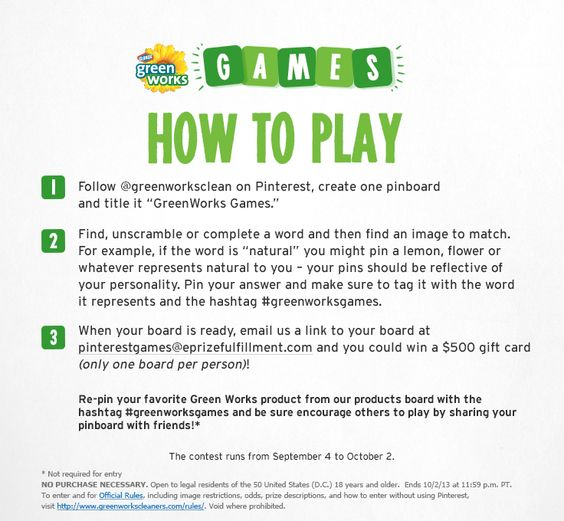 Two more days to enter the Greenworks Games Pinterest contest! #greenworksgames #sponsored