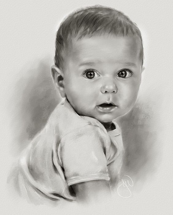 Baby drawing, Drawings and Realistic drawings on Pinterest