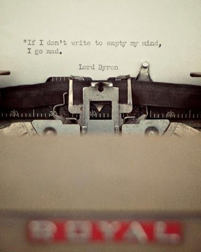 Lord Byron, on writing