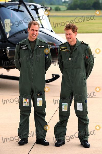 Prince William and Prince Harry Prince William and Prince Harry Defence Helicopter Flying School Training-photocall-raf Shawbury (Royal Air Force), Shrewsbury , England United Kingdom 06-18-2009