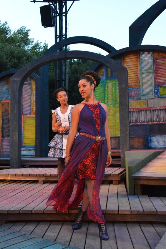 Nemuna Ceesay and Tristan Cunningham at the The Comedy of Errors dress rehearsal (6/24). Photo by Jay Yamada.