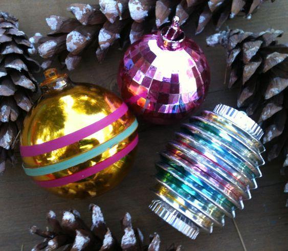 1960\u0027s unbreakable vintage plastic Christmas tree ornament (set of 3