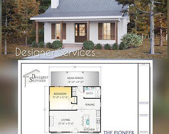 28x36 House 3 Bedroom 2 Bath 1008 Sq Ft Pdf Floor Etsy In 2021 Building Plans House Cottage House Plans Building A House