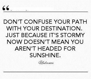 Don't confuse your path with your destination
