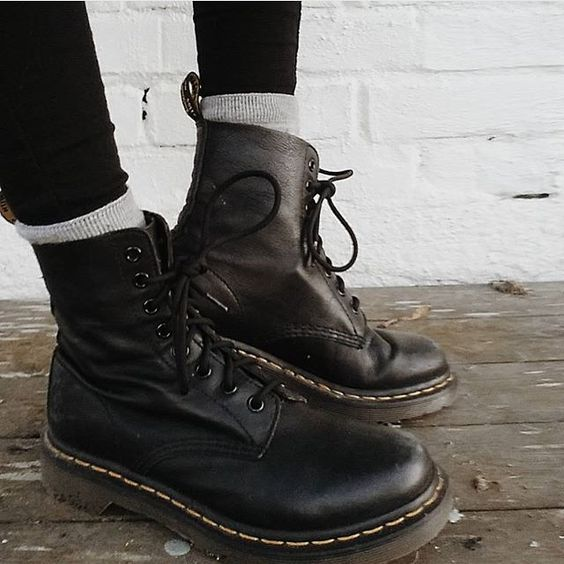 The Pascal Boot in Black Virginia now available in a range of colours.  Shared by @noraandersen_ #drmartenstyle by drmartensofficial