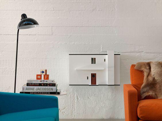 Das weiße Haus von Arne Jacobsen, Front zum runter klappen