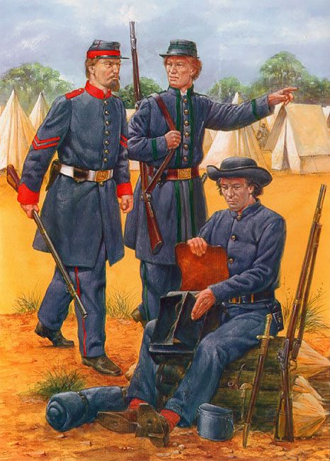 """Louisiana Volunteers, 1861-63"" • Lafourche Creoles - Co G, 18th LA Infantry  • Landrurn Guards - Co E, 17th LA Infantry  • Campaigners - Co A, 9th LA Infantry"