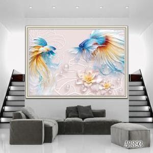 24 Lukisan Bunga Di Dinding
