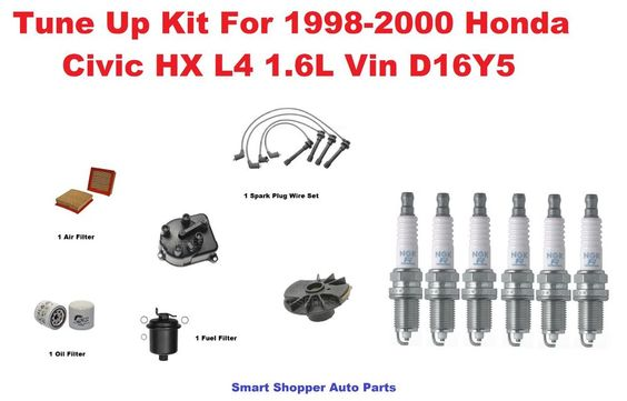 Tune Up Kit for 1996-2000 Honda Civic HX L4 spark plug wire set, Oil Air Filter