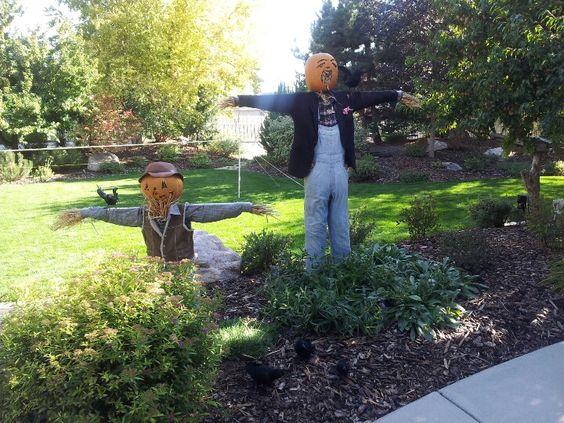 Homemade scarcrows DIY Pinterest Homemade - homemade halloween decoration ideas for yard