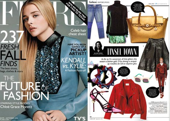 Our FW'14 Banditos jacket featured in Flare Magazine, September 2014