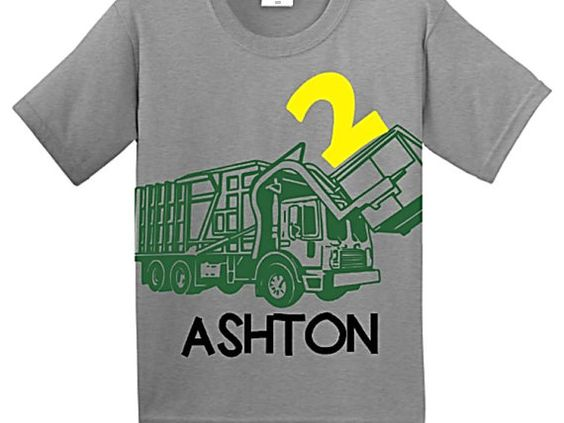 Hey, I found this really awesome Etsy listing at https://www.etsy.com/listing/218941631/trash-truck-birthday-shirt