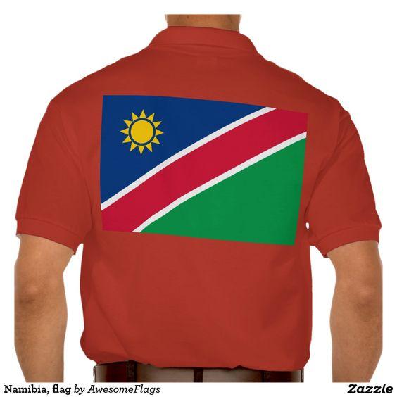 Namibia, flag polo t-shirts