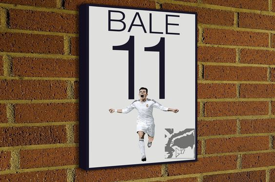 Gareth Bale 11 Canvas Print - Welsh Soccer Poster -#soccer #wallart #decor #canvas #art #poster #graphicdesign #soccerart #football #futbol #etsy #g17 #graphics17 #etsy