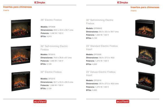 Chimeneas eléctricas - Insertos ecovent.com.mx Los Pinos 74 PB,  San Pedro de los Pinos,  México, D. F. 03800  Tels./ Fax (55) 5563-7721,  (55) 5563-7261, (55) 5615-8963
