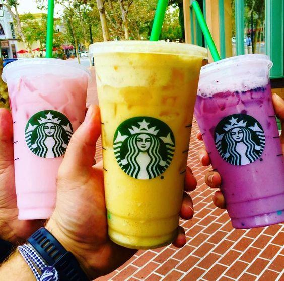 Starbucks #PinkDrink, #OrangeDrink and #PurpleDrink! Which is your favorite?