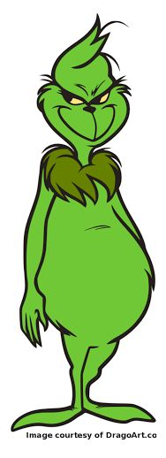 ... Full Body Displaying how the grinch stole christmas - grinch.svg