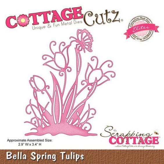 Cottage Cutz Bella Springtime Tulips Tulpenwiese von Prell Versand auf DaWanda.com