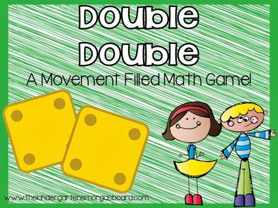 A Kindergarten Smorgasboard Double Double Addition Game!