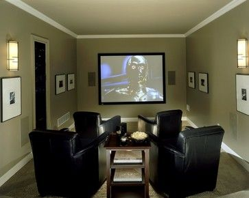 Small Media Room Design Ideas, Pictures, Remodel and Decor | Home Design |  Pinterest | Small media rooms, Media room design and Room