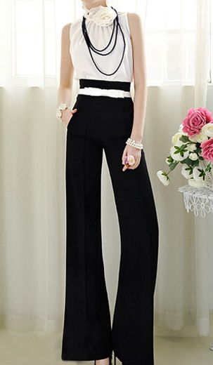 wide-leg trousers: