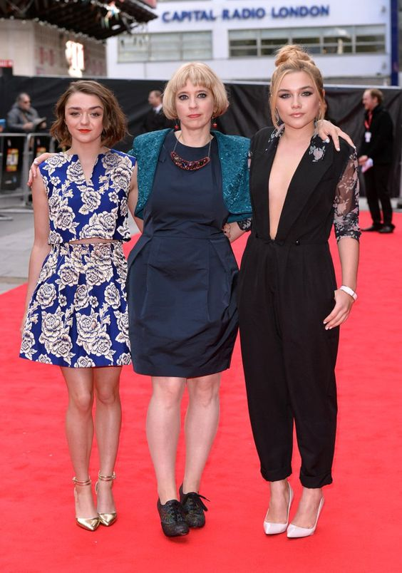 Pin for Later: That's a Wrap! See All the Stars Who Ditched Hollywood For the London Film Festival Maisie Williams, Carol Morley, and Florence Pugh Maisie and Florence joined director Carol Morley to promote their project The Falling.