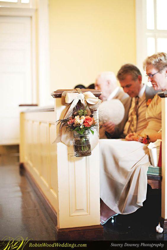#HangingPewFlowers #pewties #weddingceremony