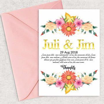 الأزهار حفظ قائمة زفاف بطاقة دعوة تاريخ Wedding Invitation Card Template Handpainted Wedding Invitations Wedding Invitation Card Design