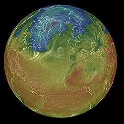 New live earth globe