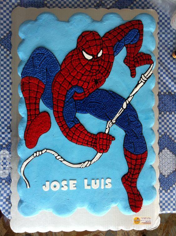 Spiderman cupcakes cake:
