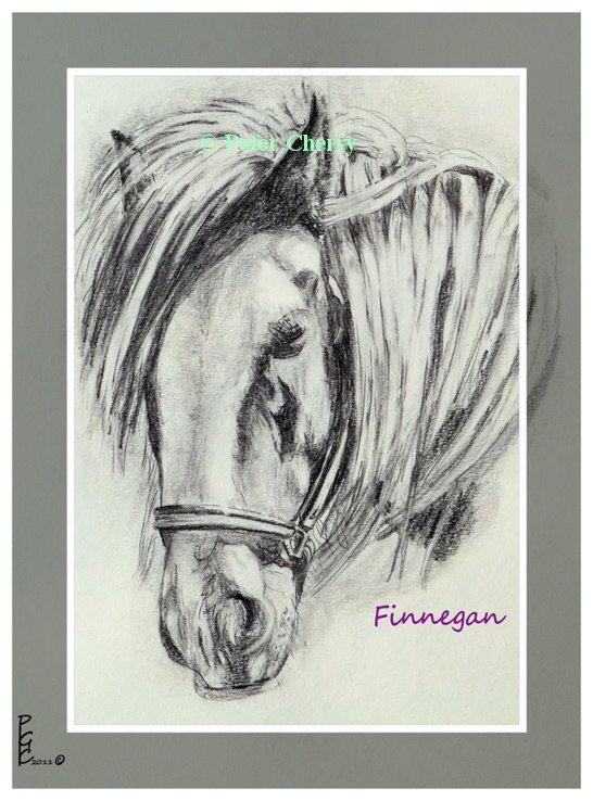 Pencil Portrait Finnegan by SylviesDesigns on Etsy, $140.00