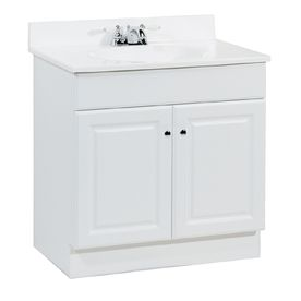 Lowe 39 s estate by rsi 31 white richmond bath vanity with top item 176504 model c14130a - Portable sink lowes ...
