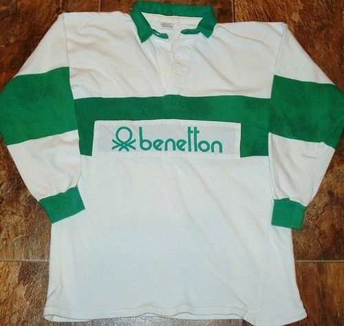 vintage 80 39 s united colors of benetton mens rugby jersey