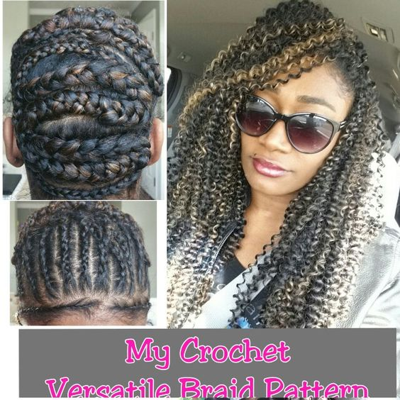 Crochet Braids Middle Part : half up half down/ middle part and side part options. Heres the braid ...