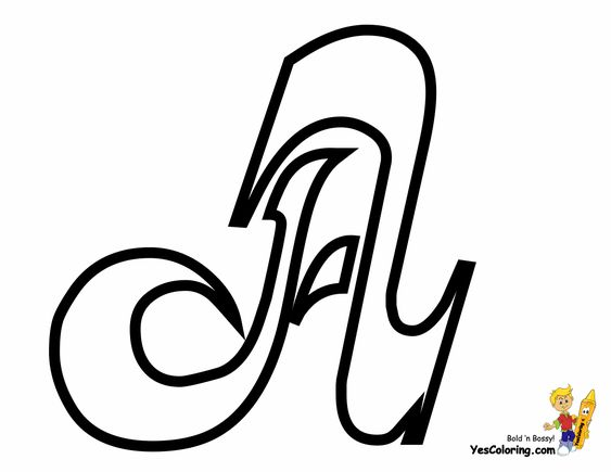 Alphabet A, Cursive And Coloring On Pinterest