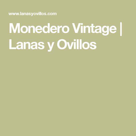 Monedero Vintage | Lanas y Ovillos