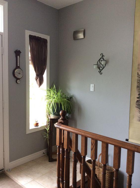 Foyer Paint Colors Behr : Foyer behr sonic silver paint colours pinterest
