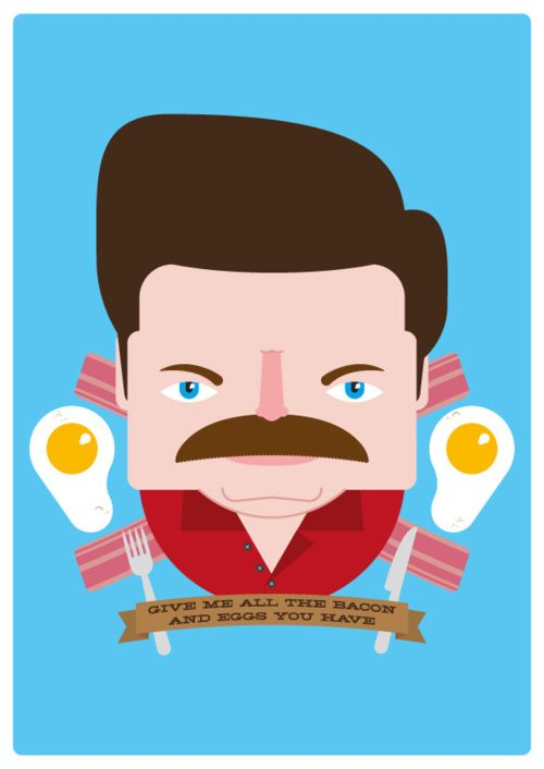 Parks n' Rec character Ron Swanson is my favorite TV character right now. Period.