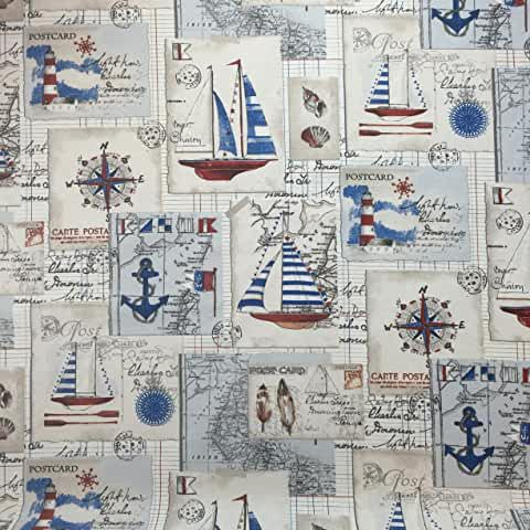 Amazon Co Uk Nautical Upholstery Fabric In 2020 Upholstery Cushions Upholstery Upholstery Fabric