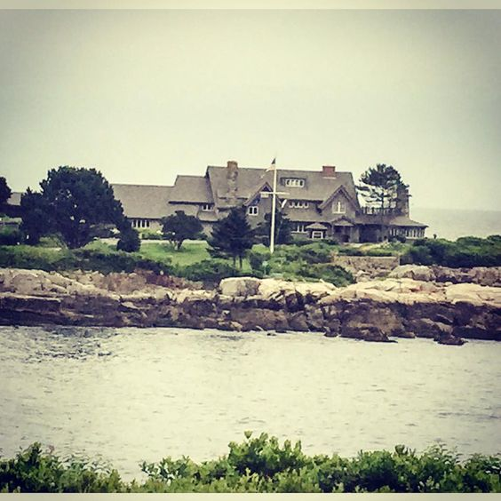 George and Barbara Bush's home in Kennebunkport, ME.