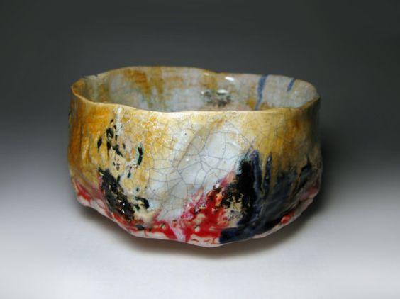 Chawan 02 / Raku tea bowl / bol à thé raku / 127 x 75 by pagasari