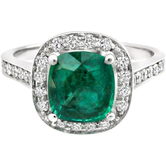 My Dream Ring Vintage Cushion Cut Emerald Engagement Ring