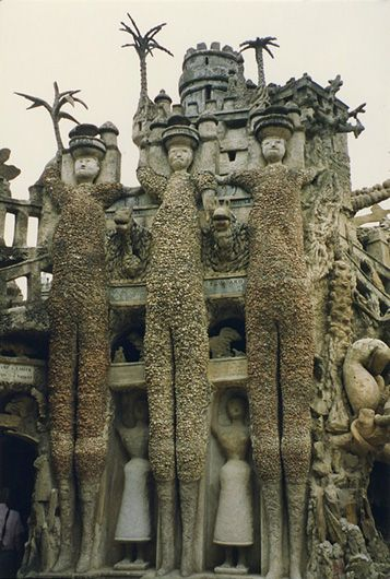 """Ferdinand Cheval (born 1836 in Charmes-sur-l'Herbasse, Drôme, France; died 19 August 1924) was a French postman who spent thirty-three years of his life building Le Palais idéal (the """"Ideal Palace"""") in Hauterives. The Palace is regarded as an extraordinary example of naïve art architecture."""