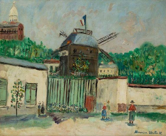"""""""Le Moulin de la Galette"""" by Maurice Utrillo"""