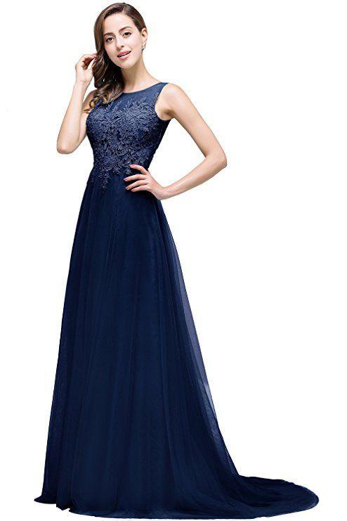 Blaues Kleid Mit Glitzer Oberteil