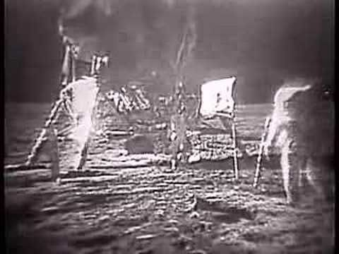 """The video of the very first moon landing of the Apollo 11 mission in 1969! Neil Armstrong was the first man to set foot on the moon with his now legenday words """"One small step for man, a giant leap for mankind."""" This is a truly amazing video and it was in 1969!!! If you think about it, you have orders of magnitude more processing power in your mobile phone than they did in the whole space craft!! Incredible!"""