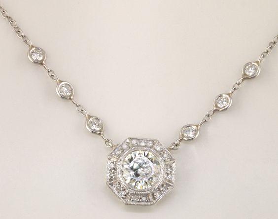 Hexagonal Diamond Pendant