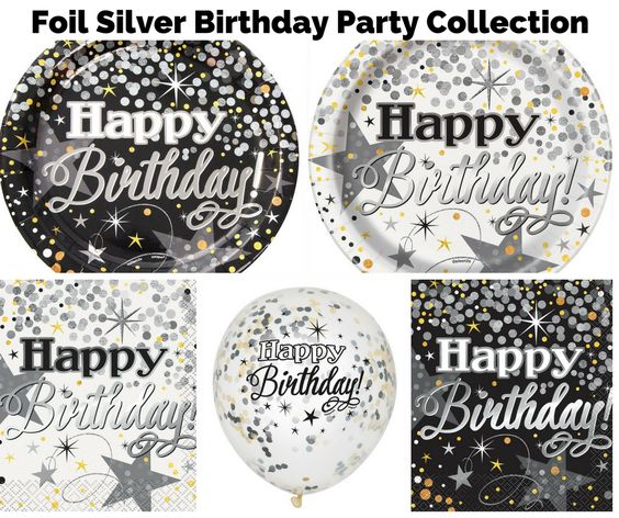 Foil Silver Glittering Party Banner