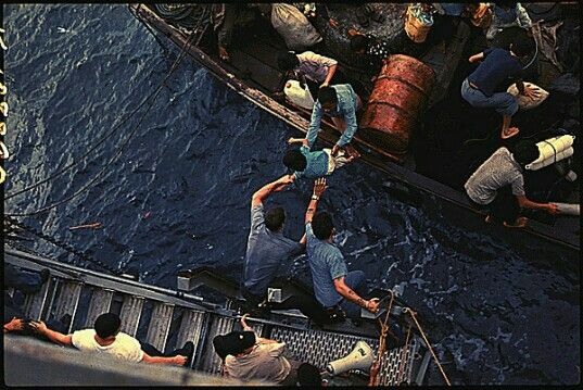 US Navy rescue of boat people, South China Sea