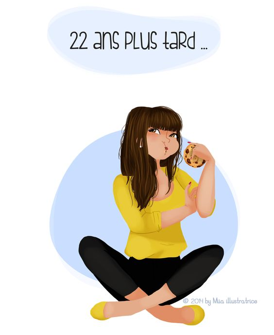 "illustration "" 22 ans plus tard "" by Miia illustratrice http://miiadbt.canalblog.com"